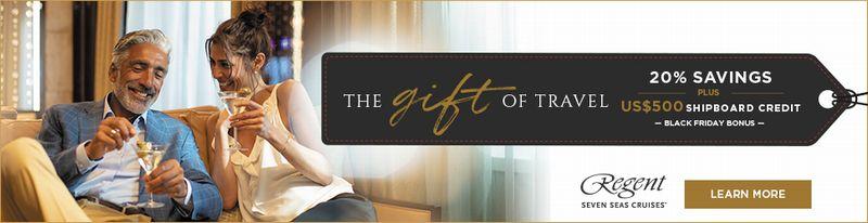 リージェント・セブンシーズ・クルーズ</br>旅の贈り物&ブラック・フライデーセール